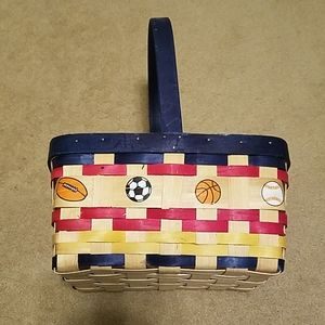 Small Basket with Sports Theme